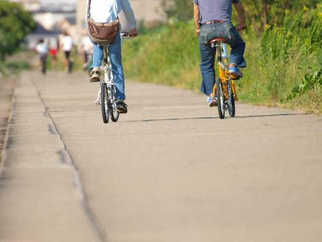 子犬の時期から慣れておきたい自転車やバイク
